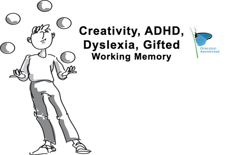 Higher Creativity with Lower Working Memory – Surprises of ADHD, Dyslexia, Giftedness, and More [Premium]