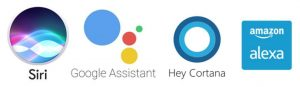 Alexa, Cortana, Siri, Google Assistant