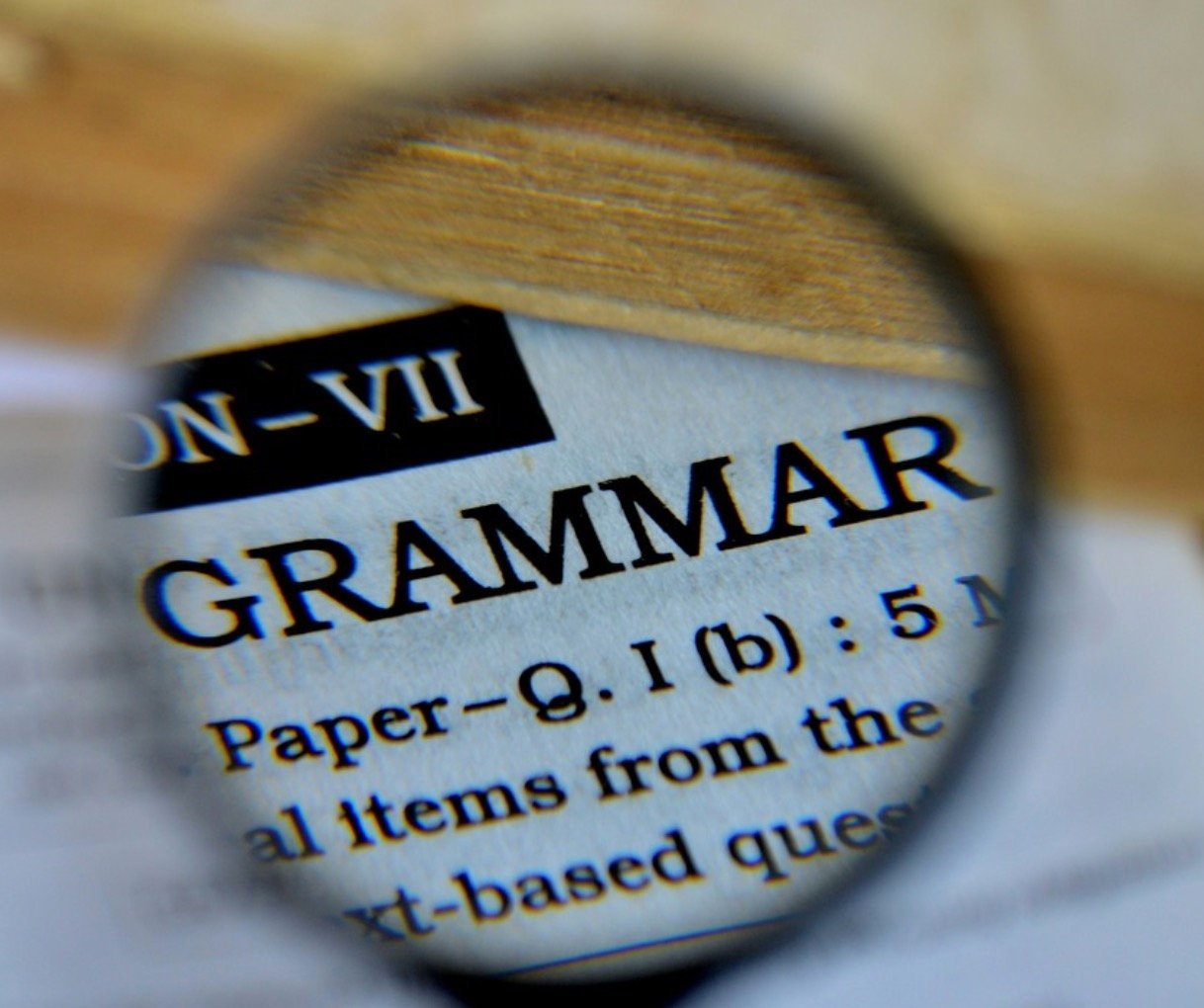 Could it be GRAMMAR? [Premium]