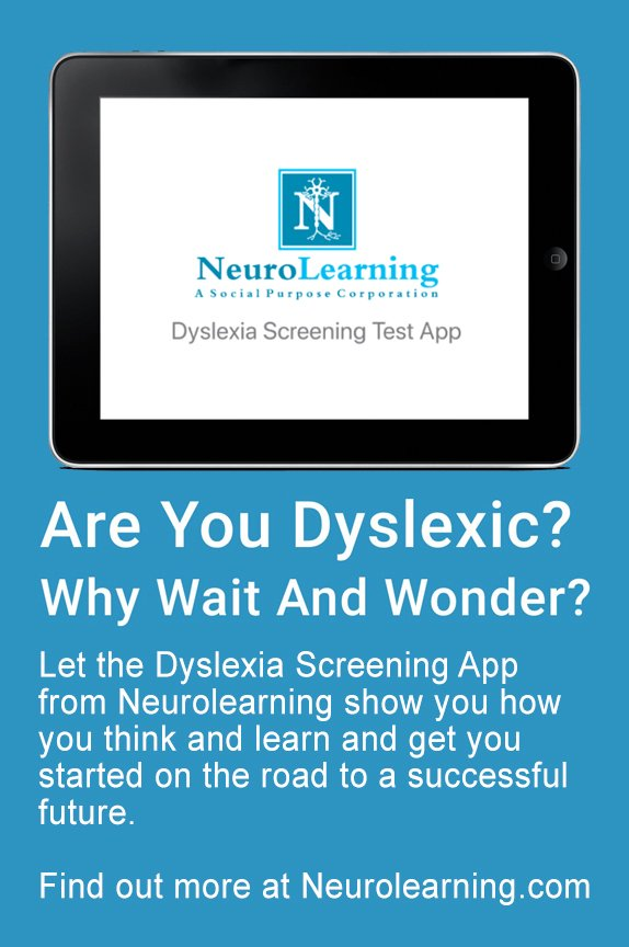 Neurolearning Dyslexia Test Ad