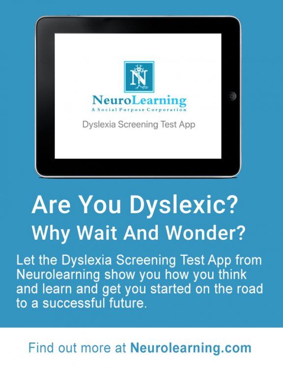 Neurolearning Ad Dyslexia Screening Test