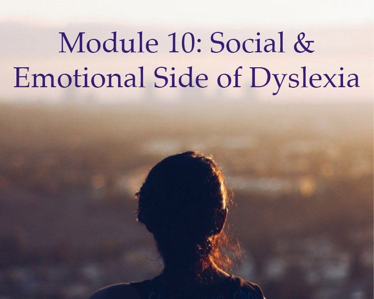 Module 10: The Social and Emotional Side of Dyslexia